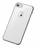 Joyroom Wizz Series iPhone 7 / 8 Metal Kenarlı Beyaz Rubber Kılıf