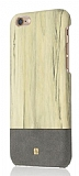 Just Must Wooden iPhone 6 / 6S Gri Rubber K�l�f