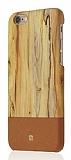 Just Must Wooden iPhone 6 / 6S Kahverengi Ah�ap Rubber K�l�f