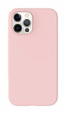 K-Doo ICOAT iPhone 12 / 12 Pro 6.1 inç Pembe Silikon Kılıf