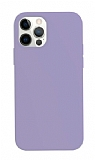 K-Doo ICOAT iPhone 12 / 12 Pro 6.1 inç Mor Silikon Kılıf