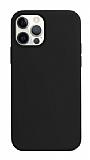 K-Doo ICOAT iPhone 12 / 12 Pro 6.1 inç Siyah Silikon Kılıf