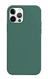 K-Doo ICOAT iPhone 12 / 12 Pro 6.1 inç Yeşil Silikon Kılıf