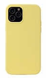 K-Doo ICOAT iPhone 12 / 12 Pro 6.1 inç Sarı Silikon Kılıf