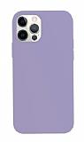 K-Doo ICOAT iPhone 12 Pro Max 6.7 inç Mor Silikon Kılıf