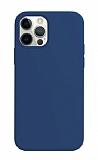 K-Doo ICOAT iPhone 12 Pro Max 6.7 inç Lacivert Silikon Kılıf