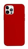 K-Doo ICOAT iPhone 12 Pro Max 6.7 inç Kırmızı Silikon Kılıf