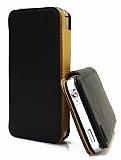 Kalaideng iPhone 4 / 4S Charming II Series �nce Yan Kapakl� Siyah Deri K�l�f
