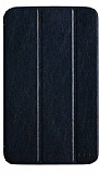 Kalaideng Samsung Galaxy Tab 3 7.0 Oscar Standl� Ultra �nce Kapakl� Koyu Mavi Deri K�l�f