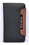 Kalaideng Samsung i9100 Galaxy S2 C�zdanl� Siyah Deri K�l�f