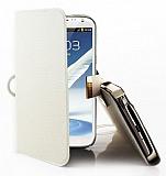 Kalaideng Samsung N7100 Galaxy Note 2 Unique Krem İnce Kapaklı Kılıf