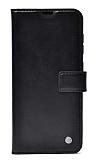Kar Deluxe Samsung Galaxy S21 Cüzdanlı Yan Kapaklı Siyah Deri Kılıf
