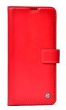 Kar Deluxe General Mobile GM 21 Pro Kapaklı Cüzdanlı Kırmızı Deri Kılıf