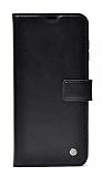 Kar Deluxe Oppo A15 Cüzdanlı Yan Kapaklı Siyah Deri Kılıf