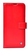 Kar Deluxe reeder P13 Blue Max Pro Lite Cüzdanlı Yan Kapaklı Kırmızı Deri Kılıf