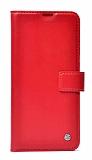 Kar Deluxe Xiaomi Mi 11 Lite Cüzdanlı Yan Kapaklı Kırmızı Deri Kılıf