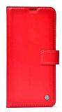 Kar Deluxe Xiaomi Redmi 9T Kapaklı Cüzdanlı Kırmızı Deri Kılıf