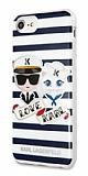 Karl Lagerfeld iPhone SE 2020 Çizgilii Silikon Kılıf