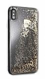 Guess iPhone XS Max Sulu Simli Gold Silikon Kılıf