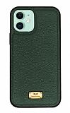 Keephone Honor Series iPhone 11 Yeşil Deri Kılıf