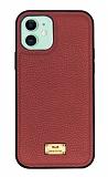 Keephone Honor Series iPhone 11 Kırmızı Deri Kılıf