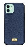 Keephone Honor Series iPhone 11 Mavi Deri Kılıf