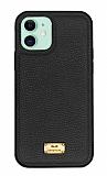 Keephone Honor Series iPhone 11 Siyah Deri Kılıf
