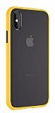 Keephone iPhone X / XS Ultra Koruma Sarı Kılıf