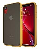Keephone iPhone XR Ultra Koruma Sarı Kılıf