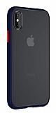 Keephone iPhone XS Max Ultra Koruma Lacivert Kılıf