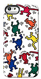 Keith Haring iPhone 5 / 5S Dancers Parlak Rubber K�l�f