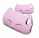Kiki Cat Kedi iPhone 5 / 5S Sert Pembe Rubber K�l�f