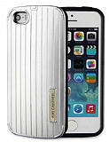KikiCarrier iPhone 5 / 5S Ultra Koruma Metal Silver K�l�f