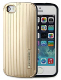 KikiCarrier iPhone 5 / 5S Ultra Koruma Metal Gold K�l�f