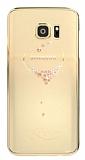 Kingxbar Samsung Galaxy Note FE Kalp Taşlı Kristal Kılıf