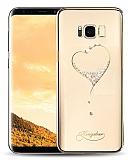 Kingxbar Samsung Galaxy S8 Plus Kalp Taşlı Kristal Kılıf