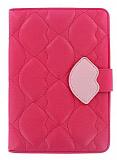 Kiss Apple iPad Mini Standl� Uyku Modlu Koyu Pembe Deri K�l�f