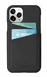 Krusell iPhone 11 Pro Deri Kartlıklı Siyah Kılıf