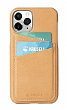 Krusell iPhone 11 Pro Deri Kartlıklı Turuncu Kılıf