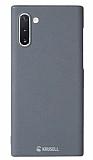 Krusell Sandby Samsung Galaxy Note 10 İnce Rubber Silver Kılıf
