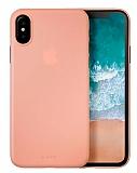 Laut Slim iPhone X / iPhone XS Pembe Silikon Kılıf