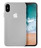 Laut Slim Skın iPhone X / iPhone XS Şeffaf-Beyaz Silikon Kılıf