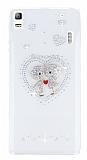 Lenovo A7000 Love Taşlı Şeffaf Rubber Kılıf