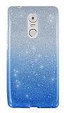 Lenovo K6 Note Simli Mavi Silikon Kılıf