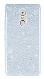 Lenovo K6 Note Simli Silver Silikon Kılıf
