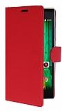 Casper Via V6X Cüzdanlı Yan Kapaklı Kırmızı Deri Kılıf