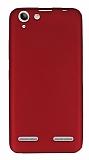 Lenovo Vibe K5 Mat Kırmızı Silikon Kılıf