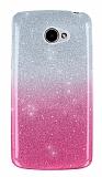 LG K5 Simli Pembe Silikon Kılıf