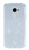 LG K5 Simli Silver Silikon Kılıf