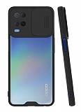 Lens Thin Oppo A54 Kamera Korumalı Siyah Silikon Kılıf